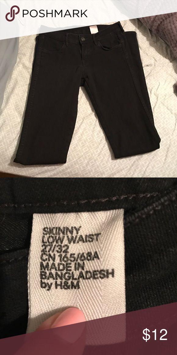 Black H&M jeans Black H&M jeans, great condition. 77% cotton, 21% polyester, 2% elastane H&M Jeans