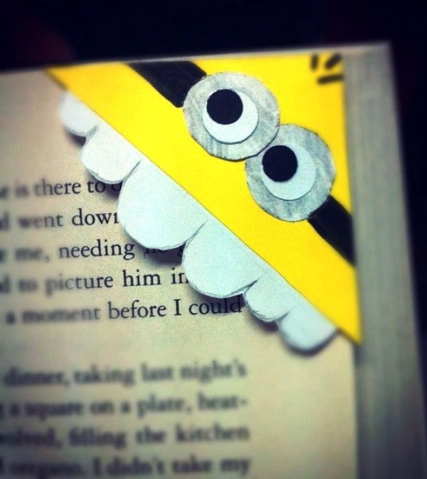 DIY:Cute Minion bookmark - or I could think of other ideas!