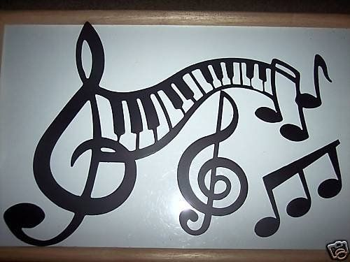 Music Decor Keyboard And Notes 3 Piece Set Metal Wall Art Music