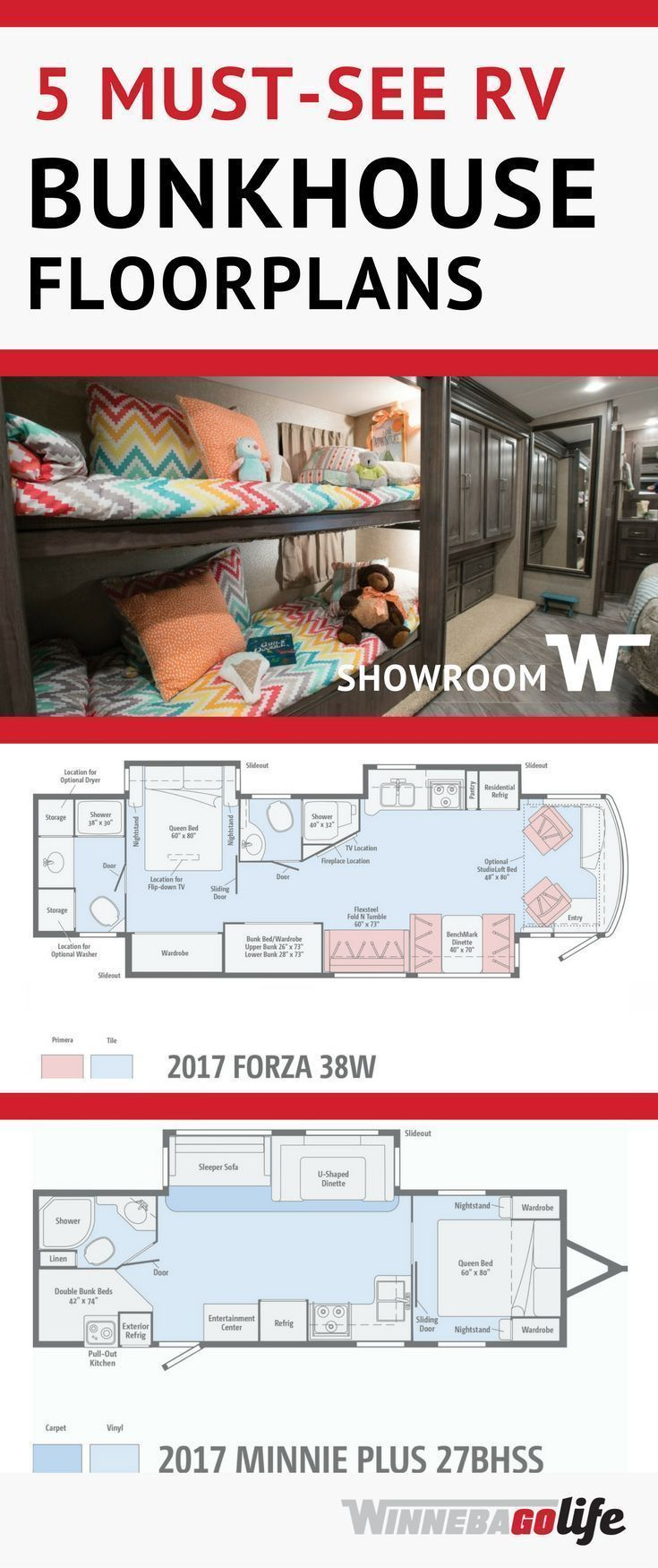 diagram of bunkhouse 5 must see rv bunkhouse floorplans  with images  travel trailer  5 must see rv bunkhouse floorplans