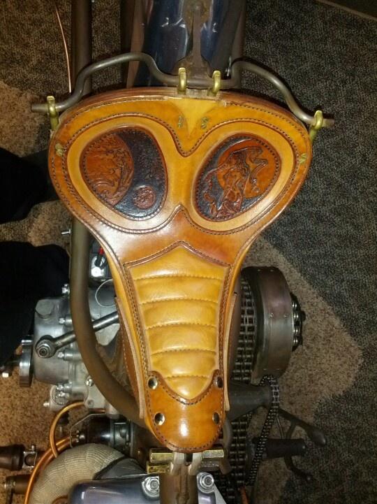 Hammer In Hand Custom Cycles  Custom leather work  Saint Johns, MI
