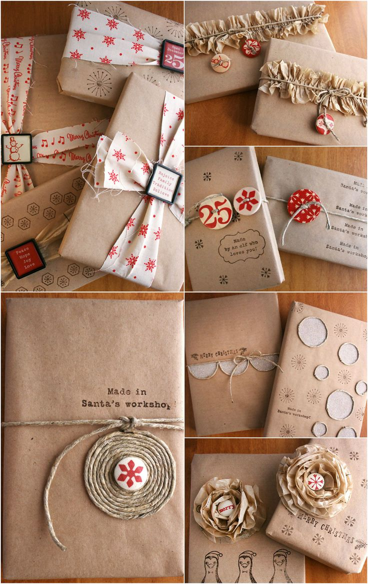 Christmas Inspiration ● 8 Techniques for Gift Wrapping with Kraft - Ahh!! We're in love over some these ideas!
