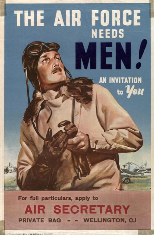 WWII recruitment poster for the New Zealand Air Force