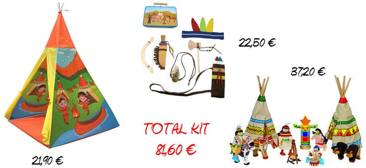 #juegosdeindios #indios #tipi Se compran por separado. www.babycaprichos.com