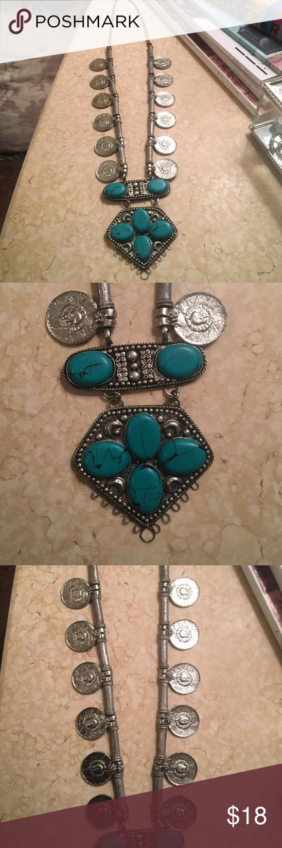 Coin Necklace Turquoise coin necklace, definitely a statement piece! Jewelry Necklaces