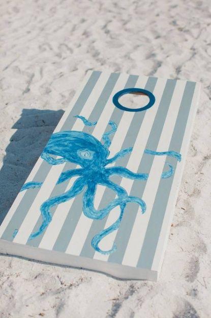 #Carlouel Yacht Club: Michelle and Ory's Romantic #Nautical #Wedding | #Beach #wedding | #Octopus #cornhole game