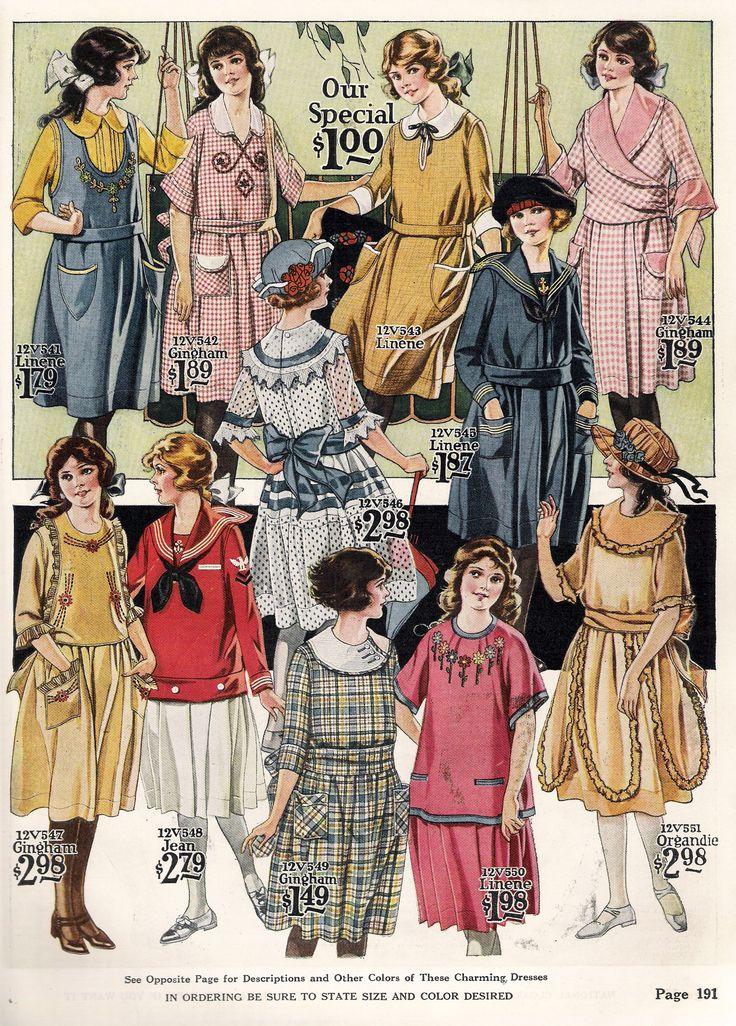 1922 girls dresses 1920s children's fashion kids