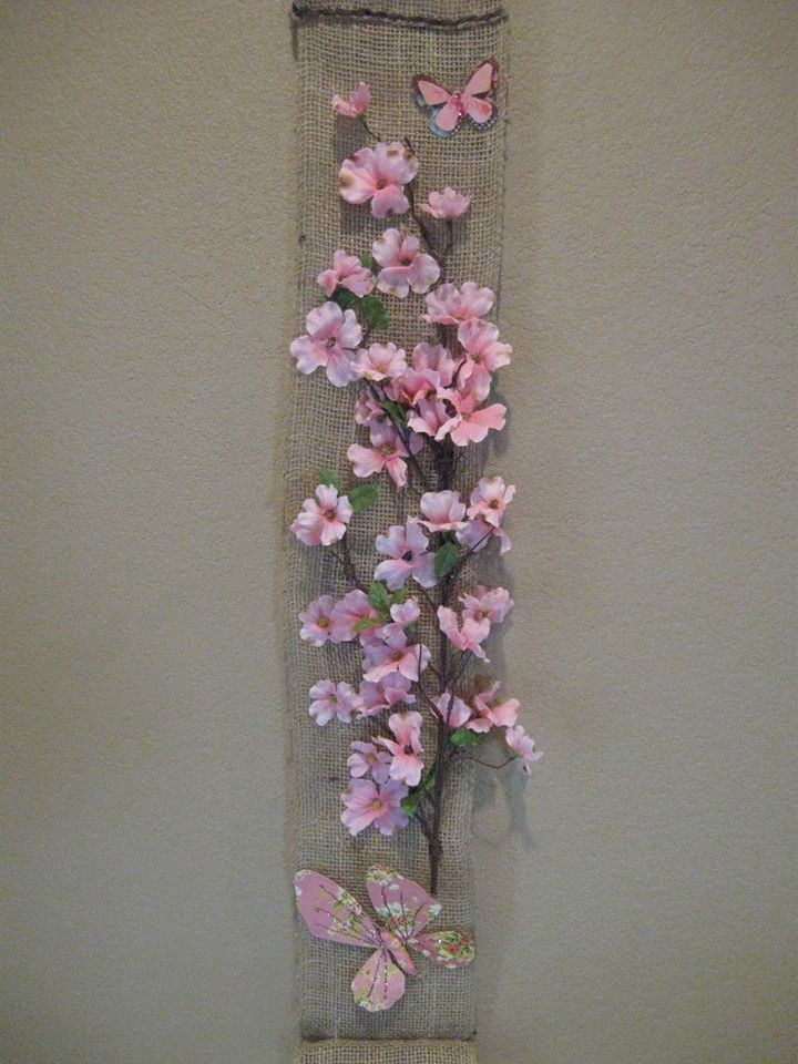 Burlap wall hanging craft ideas pinterest burlap for Crafts and hobbies ideas