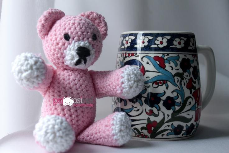 crocheted teddy bear  made by Psispinel Handmade  https://www.facebook.com/pitsineli