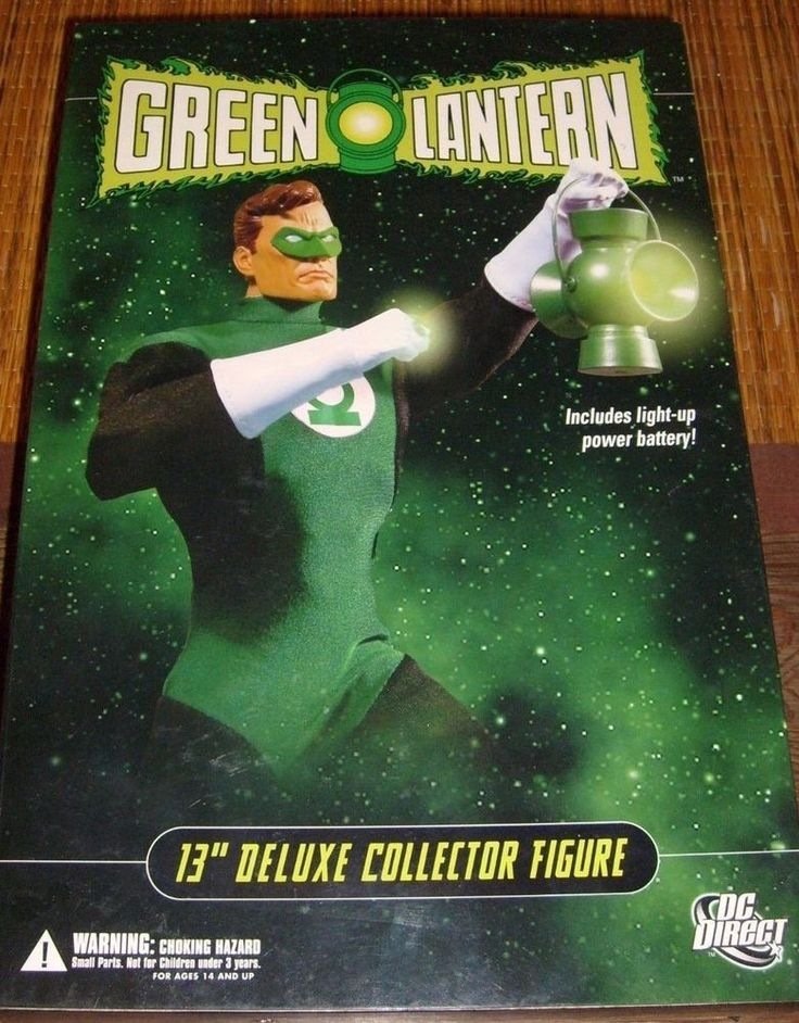 "DC GREEN LANTERN 13"" DELUXE COLLECTOR FIGURE LIGHT UP LANTERN DC DIRECT MIB NEW #DCDirect"