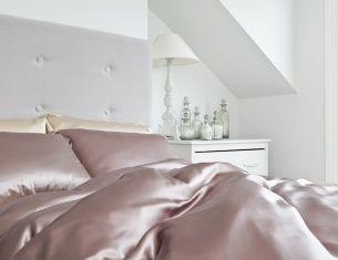 Silk Sheet - 100% Mulberry Silk Bed Sheets from Silksleep Single Dusky Pink   Silksleep