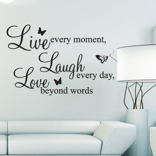 "Ontzettend leuke muursticker ""Live every moment"" Vergeet nooit meer om te genieten!"