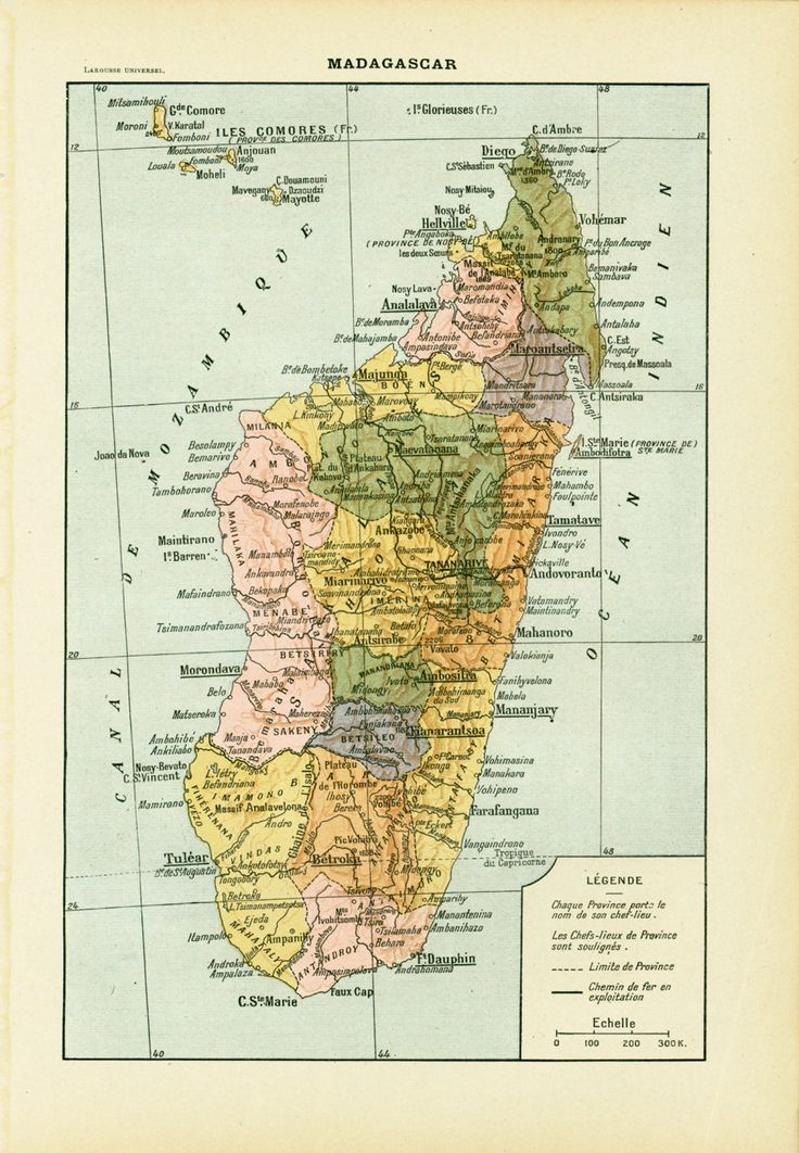 X- X Marks the Spot-This map of Madagascar.