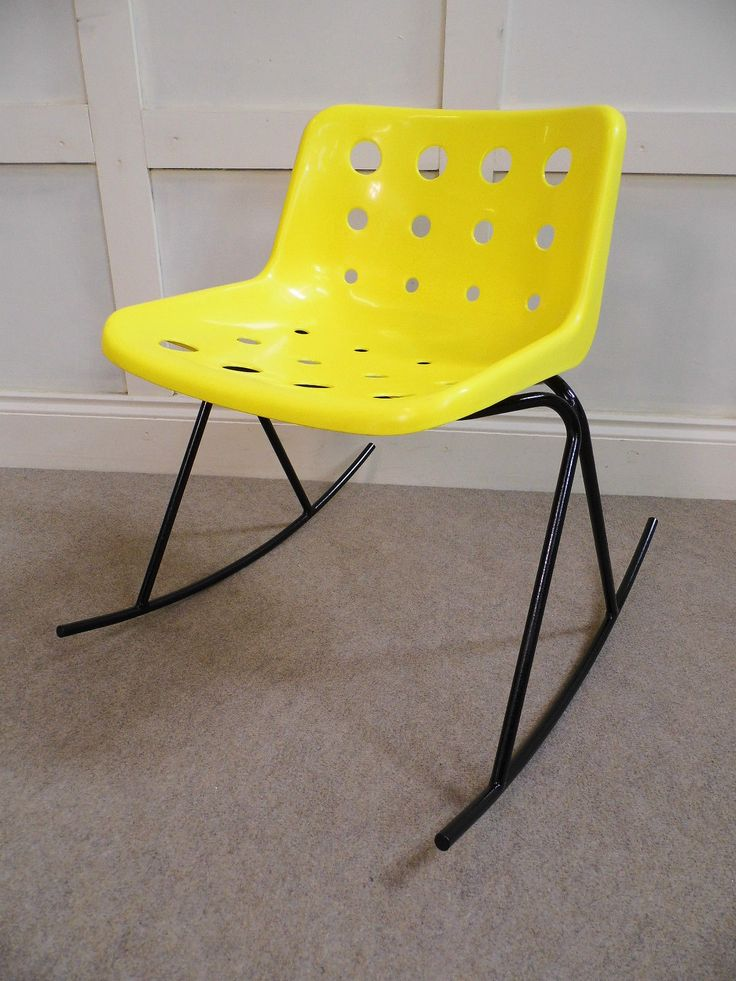 Stylish Vintage Retro Robin day HILLE plastic Rocking chair Alpha Base 70s 80s…