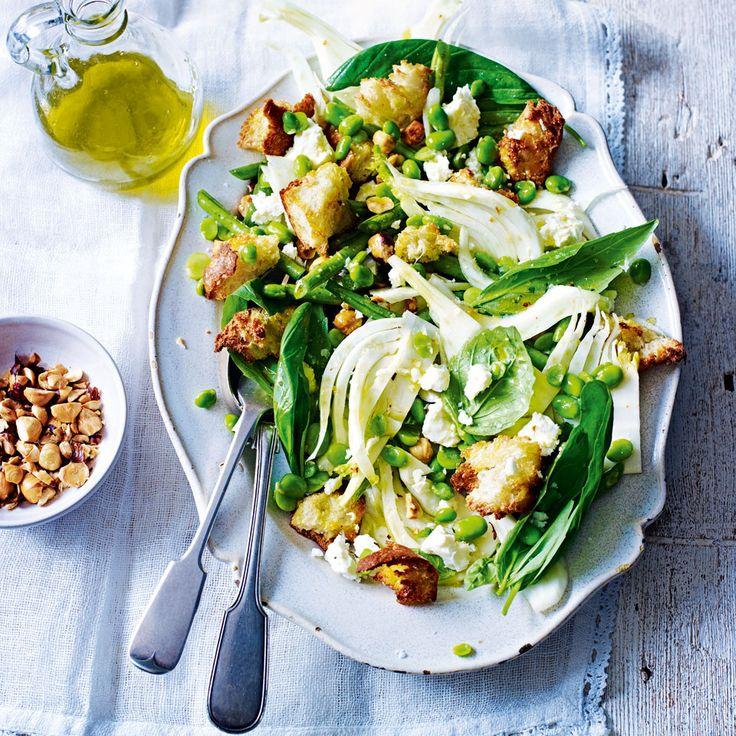 Fennel + Broad Bean Salad with Hazelnuts + Fetta