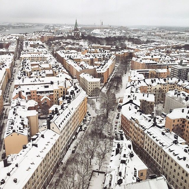 """""""How about this view for lunch? #visitstockholm #himlen"""""""