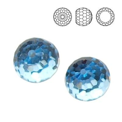 4869 Ball 6mm Aquamarine CAVZ  Dimensions: 6,0 mm Colour: Aquamarine CAVZ 1 package = 1 piece