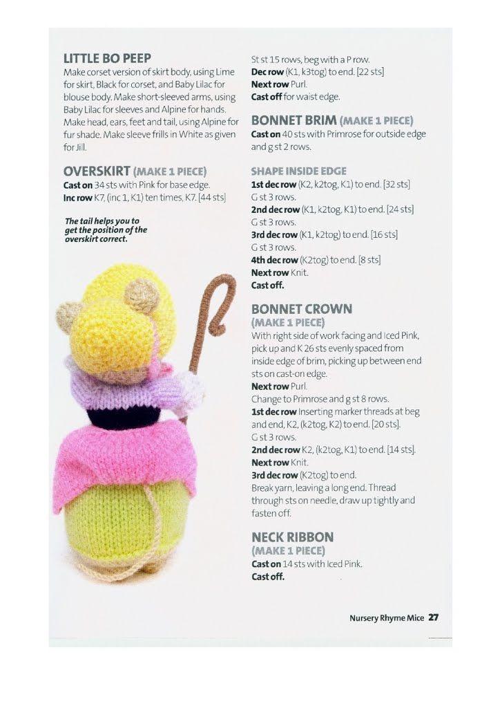 KNIT - Little Bo Peep | berthcharlotte | Pinterest