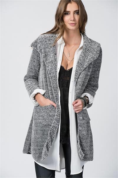 ÇİFT CEPLİ PELUŞ HIRKA www.fashionturca.com