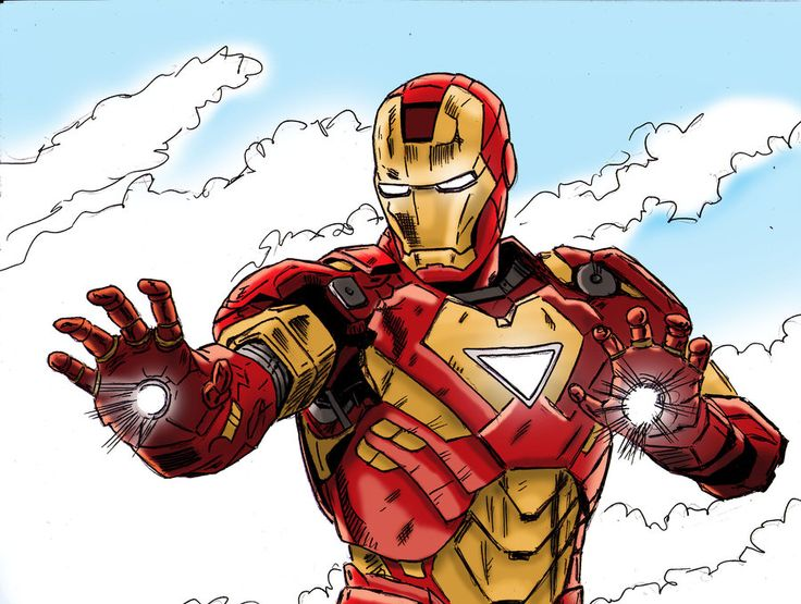 Blank Coloring Pages Iron Man Mk