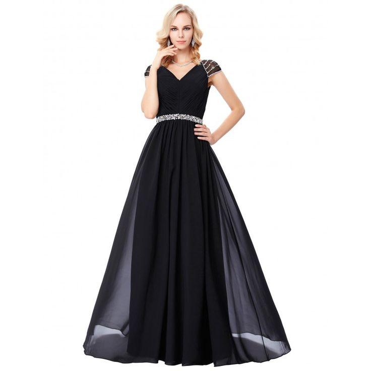Čierne spoločenské šaty GK000135