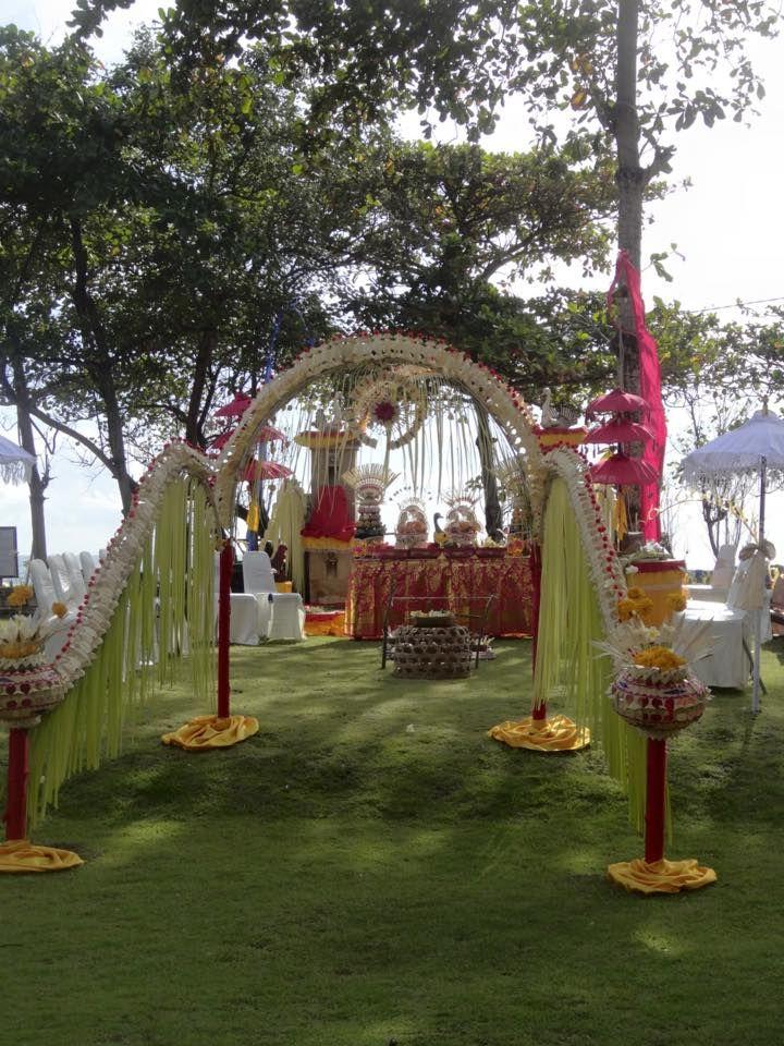 Balinese blessing decor
