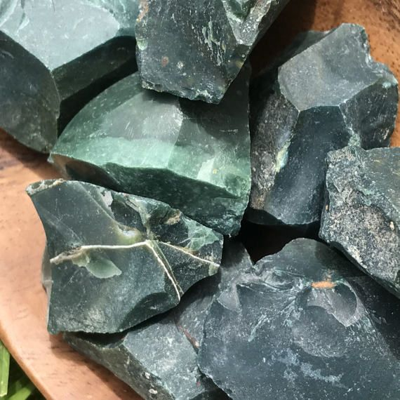 Raw Green Jasper Chunks Rough Jasper Crystal Grid Metaphysical