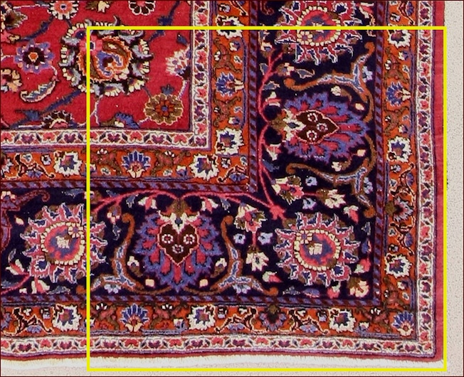here yuou can see the carpet completed  after 3 months of work !!!