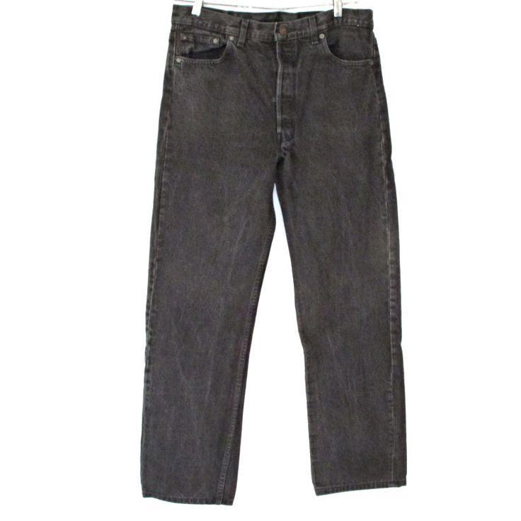Vtg Mens Levis 50 Black Jeans Classic Fit Straight Leg 36 X 36 Actual 35 x 32 #Levis #ClassicStraightLeg