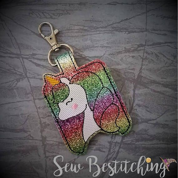Unicorn Hand Sanitizer Holder Rainbow Hand Sanitizer Holder