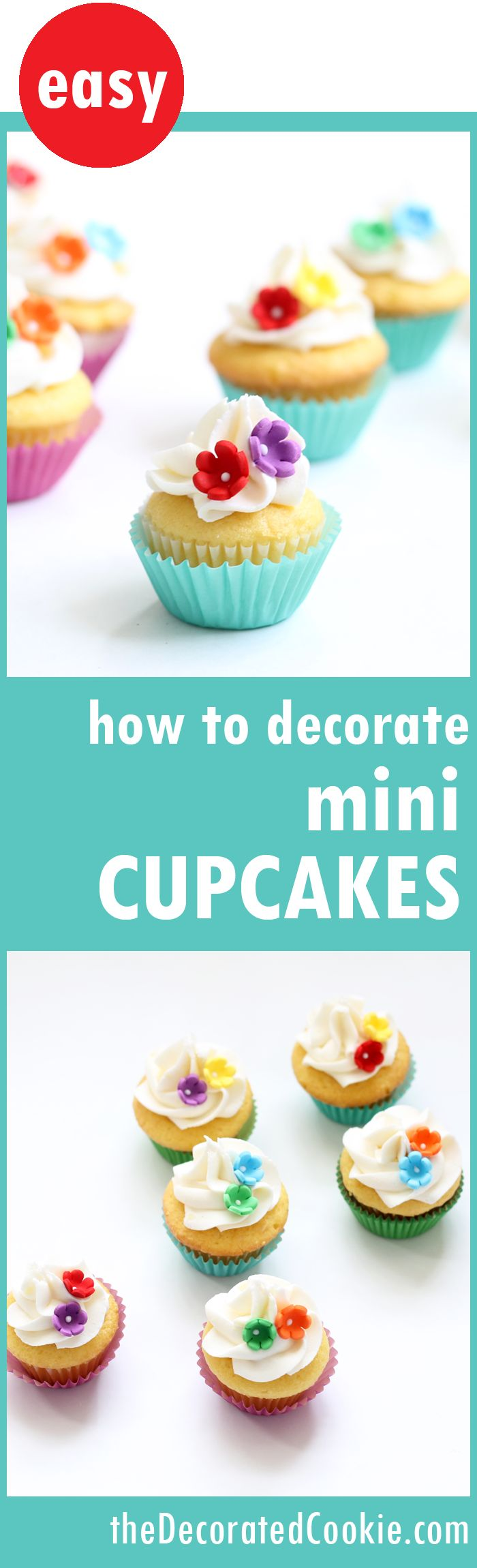 How To Bake And Decorate Mini Cupcakes  With Video Howtos