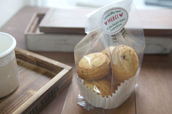 100 x bolsas de plástico de la galleta / por Twomysterybox en Etsy