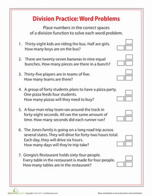 simple division word problems folder 4th grade math. Black Bedroom Furniture Sets. Home Design Ideas