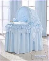 Bassinet in blue