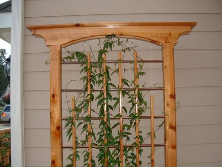 Attractive Trellis Made From Cedar And Copper Tubes. . Bill Built One That I Loved!