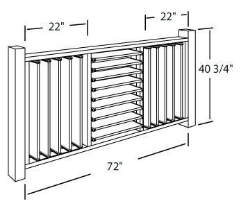 Creative DIY Fence Outdoor Project. Louvered Hardware Idea: Flexfence Fully Louvered Deck Railing