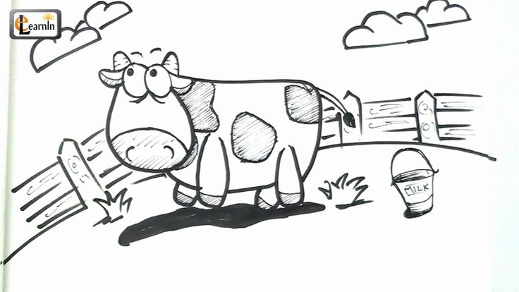 Art For Kids How To Draw A Cow Drawing For Children