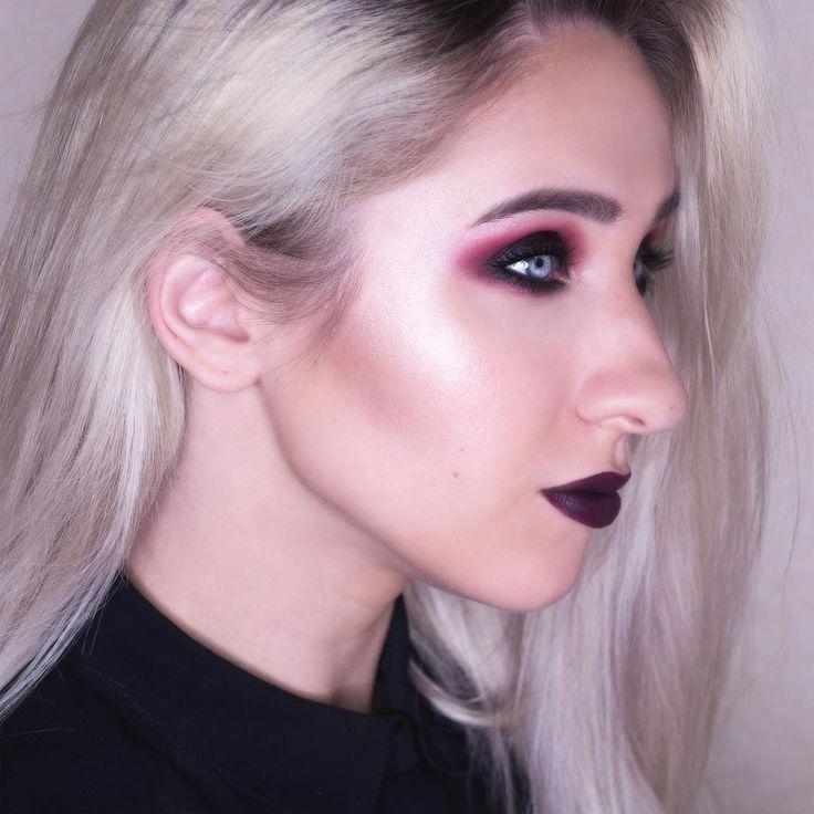 Dark lips dark eyes makeup