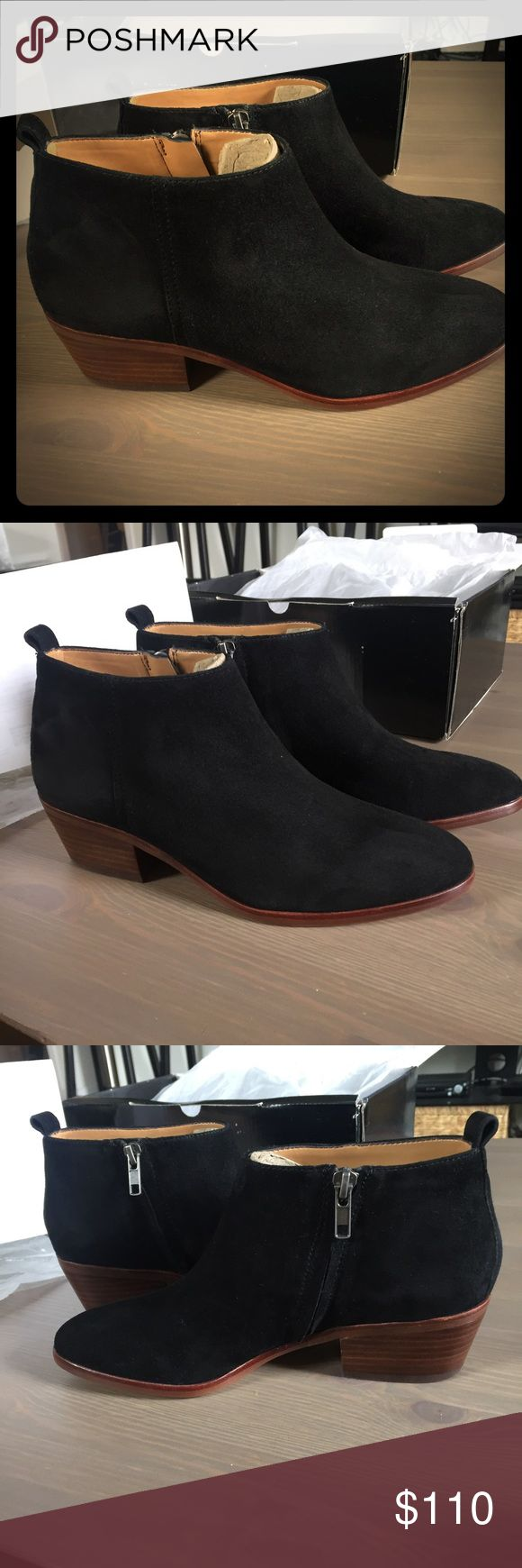 NWT J Crew Factory black suede booties Brand new never worn black suede sawyer ankle boots from J Crew Factory. Size is 7.5 M. J. Crew Factory Shoes Ankle Boots & Booties