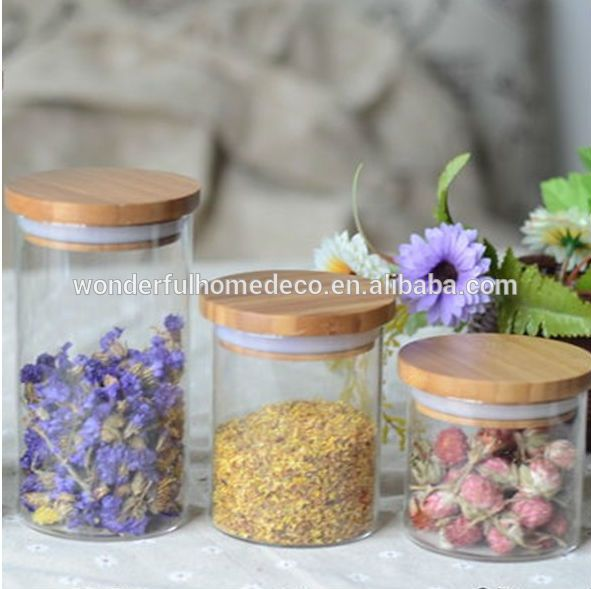 High quality glass apothecary jars wholesale/ bulk cookie jar /pudding jar /Straight mouth bottle