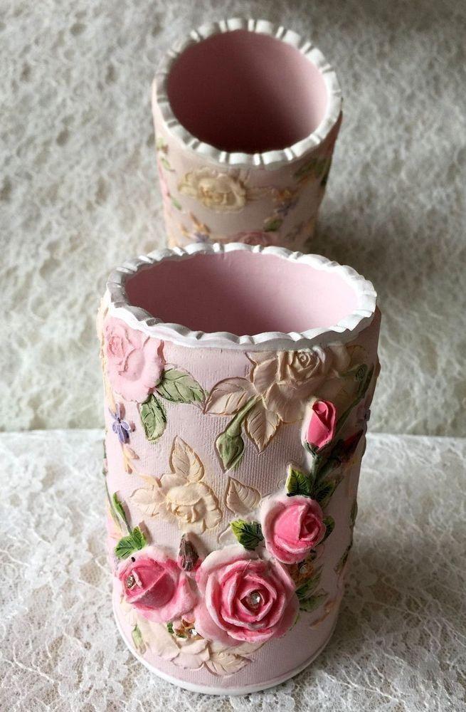 A nice hand-painted carved rose little Vase | eBay