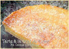 Tarte a la noix de coco délicieuse tarte faite avec seulement 120g sucre