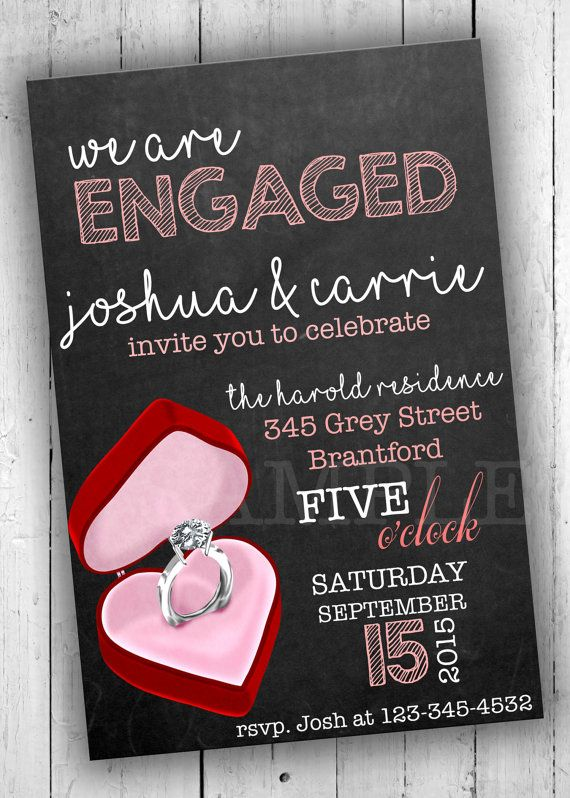 Engagement Party Invitation Engagement by PartyPrintableInvite