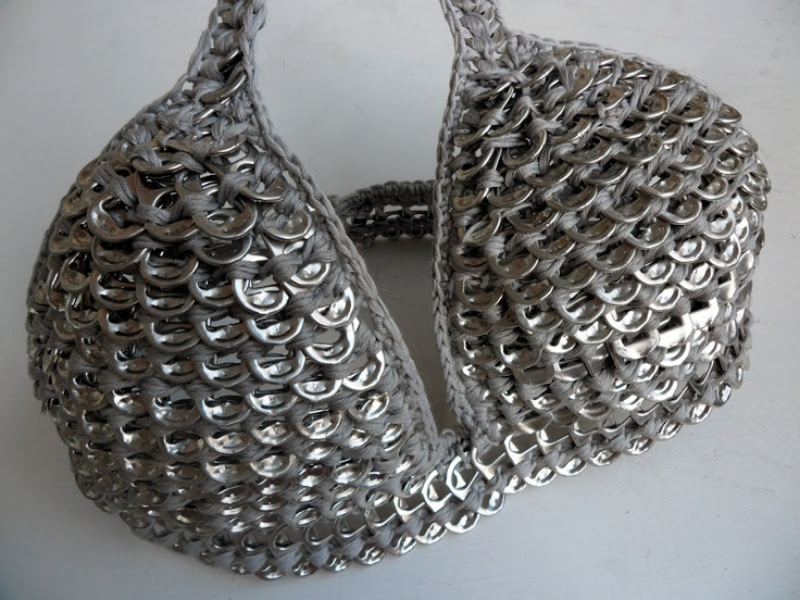 Crochet Recycling Inspiration  - what will they think of next ???