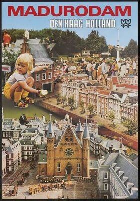 """Madurodam - An awesome tourist attraction, where visitors walk s """"giants"""" throughout an entire Dutch city, villages, airport, canals and houses....built entirely in miniature!!"""