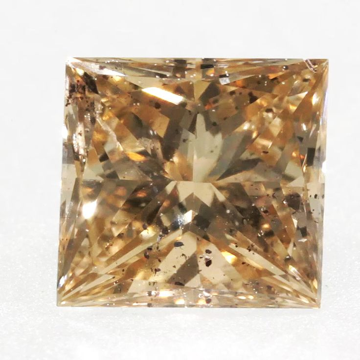 0.44 ctw Champagne -C5 SI2 Clarity 4.32x4.08x2.82 mm Princess Cut Loose Diamond