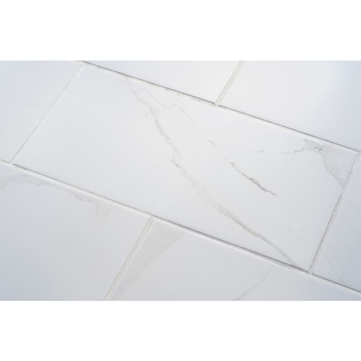 Shop 7 Pack Calacatta White Glazed Porcelain Floor Tile