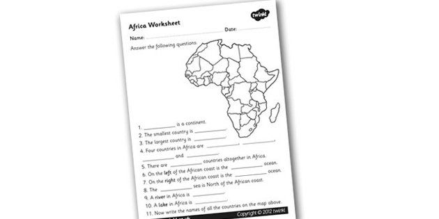 Africa Worksheet Africa Africa Worksheet Africa Questions - Africa map ks2