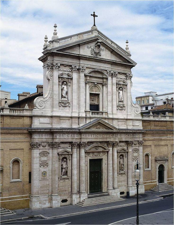 Carlo Maderna - Santa Susanna, Rim - gornji dio pilastri, donji dio pilastri i uzidani stupovi (polustupovi, 3/4 stupovi)