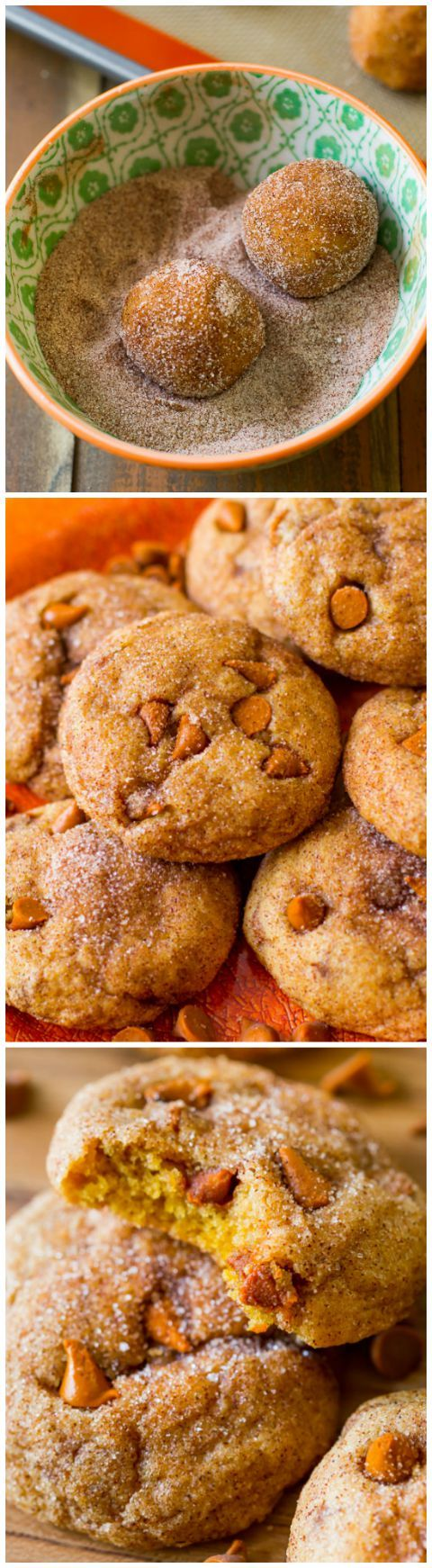 Cinnamon Chip Pumpkin Cookies have unbeatable spiced pumpkin flavor-- so easy with no mixer! Chewy, not cakey!